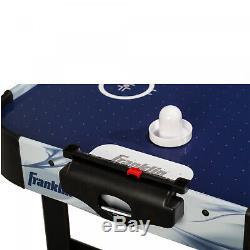 Straight Leg Air Hockey Table 48 Indoor Sport Game Play Arcade Experience Black