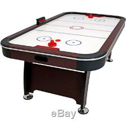 Sunnydaze 7-Foot Electric Air Hockey Game Table with Scorer and Accessories