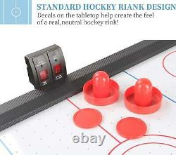 TALLO Sport 48 Inch Air Hockey Table For Kids And Adults -Auto Scoring Motor