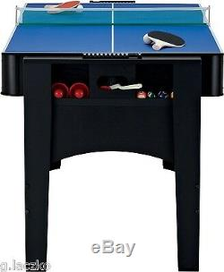 Top Game Table Billiards Air Hockey Table Tennis 6 Foot 3 in 1 Flip Home New