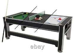 Triumph 3-in-1 Rotating Swivel Multigame Air Hockey Billiards Pool and Table