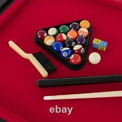 Triumph 4-in-1 Rotating Swivel Multigame Table Air Hockey, Billiards, Table Te