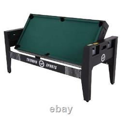 Triumph 72 4 In 1 Multi-Game Swivel Table With Air-Powered Hockey, Table Tennis