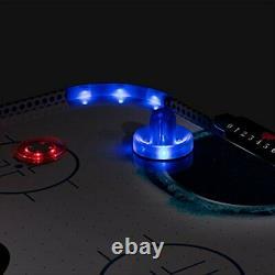 Triumph Fire n Ice LED Light-Up 54 Air Hockey Table Includes 2 LED Hockey P