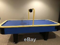 Used 8 Foot Air Hockey Table With Electric Scorekeeper, pucks, hockey pushers