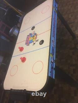 Vintage The Simpsons Air Hockey Table Game 2004 Works