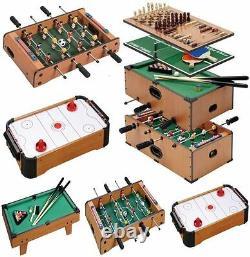 Wooden Mini Table Top Game Set Kids Desktop Arcade Play Toy Family Fun Xmas Gift