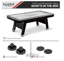 X-Cell Sport 84 Hover Hockey Table, 2 Pushers and 2 Pucks Included